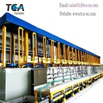 Automatic vertical lift electroplating production line