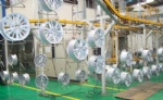 Automatic high rail hang spraying line